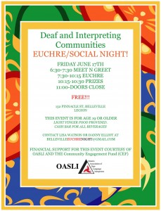 Euchre Night @ 132 Pinnacle St. (Legion Hall) | Belleville | Ontario | Canada