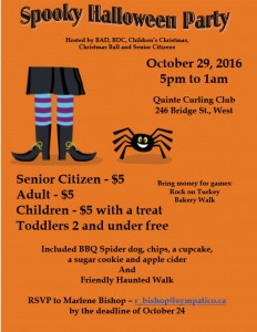 Spooky Halloween Party @ Quinte Curling Club